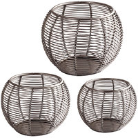 Sutra Decor Cage Candle Holder Set Of 3