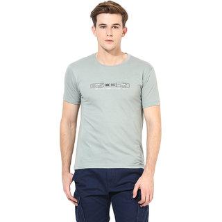Okane Grey Half Sleeve Round Neck Casual Wear T-shirts
