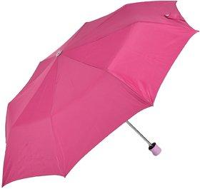 Swastik Polyester Umbrella 3 fold Pink)
