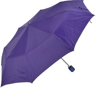 Swastik Polyester Umbrella 3 fold(Purple