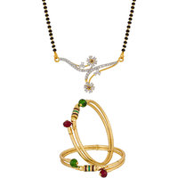Simple Regular Wear Gold Plated Jewellery Combo-2270