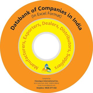 PACD-027 Databank of Companies All Trades Companies Manufacturers, Exporters, Dealers, Distributors, Suppliers, Traders  Service Providers 292,000 Entries