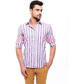Jermyn Crest Mens Striped Casual Shirt WHST018A SHTEC888HDUC9FZJ