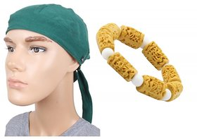Sushito Combo Of Driving Style Headwrap For Men With Wrist Band
