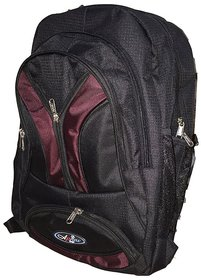 Apnav Black-Wine Lightweight School Bag