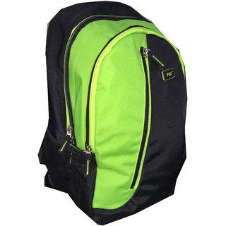 FBI Black-Green School Bag/Backpack FBI-09