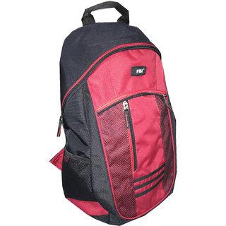 FBI Black-Red School Bag/Backpack FBI-13