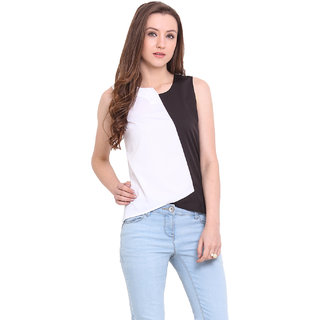 Ridress White Polyester Casual Top For Women