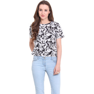 Ridress Black Polyester Casual Top For Women