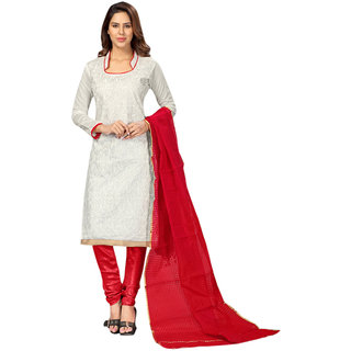 e366586ab5a Buy Florence Pink Chanderi Embroidered Salwar Suit Dress Material ( Unstitched) Online - Get 71% Off