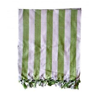 Bhagalpuri Silky Chadar Olive Green Strip
