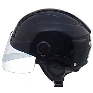 SKULLS Black Open Face Helmet