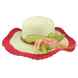 FabSeasons Beach Hat Woven Beach Hat Cap HK53dualblue CAPEAHNGN8HGANZ8