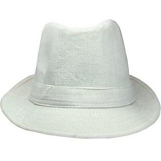 FabSeasons Baseball Cap Solid Fedora Hat Cap HK54cream CAPEAHNGZDCCRMN2