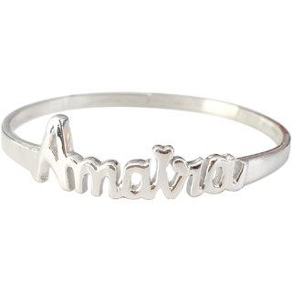 Buy Aastha Jain Personalised Sterling Silver Bangle For Kids 0 7