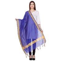 Varanga Chanderi Silk Blue Dupatta KF-VARDUP014