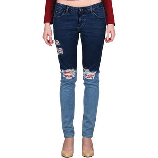 Indie Jeans Blue Slim Fit Jeans For Women