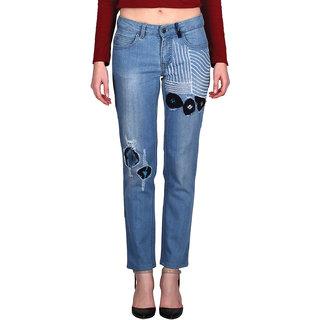 Indie Jeans EYE THREE Blue Womens Slim Denim Jeans