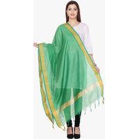 Varanga Chanderi Silk Green Dupatta KF-VARDUP017