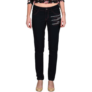 Indie Jeans COSMOPOLITANT Blue Womens Slim Denim Jeans