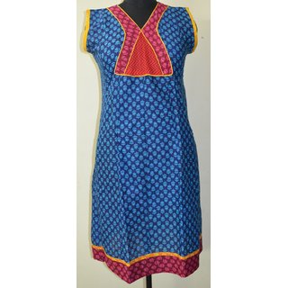 Designer Anarkali Womens Ethnic Indian Cotton Printed Kurti