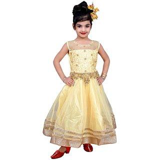 Arshia Kids Dresses Baby Clothing Girls Long Designer Net Frock 3-4-5-6-7-8 Years