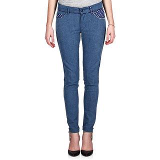 Indie Jeans POLKA BLUE Blue Womens Slim Denim Jeans