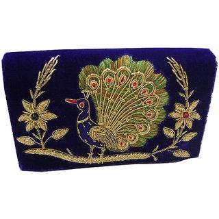 Ladies velvet embroidered bag