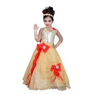 Kids dresses baby clothing girls Long Designer net frock 3-4-5-6-7-8 years