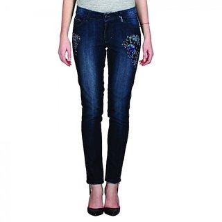 Indie Jeans ATLAS Blue Womens Slim Denim Jeans