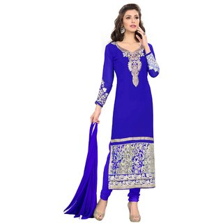 Subhash Sarees Daily Wear Blue Color Georgette Dress Material