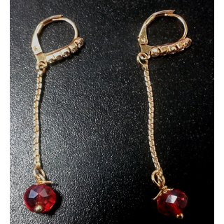 Red and golden color Earring