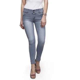 ahhaaaa Grey slim fit denim jeans for Women