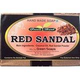 Handmade Red Sandal Soap(pack Of 6)