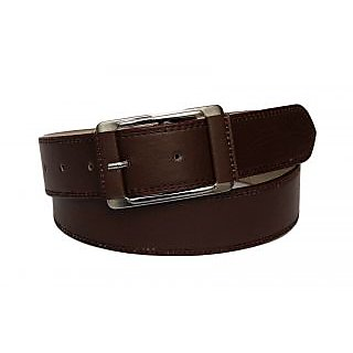 Suave Mocha Brown Belt In A Chiseled Quadra Buckle For Him (BLM-CLR-BRN)