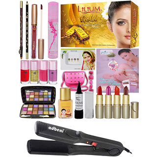 Parlour Combo Makeup Sets With Facial Kit  Straightener