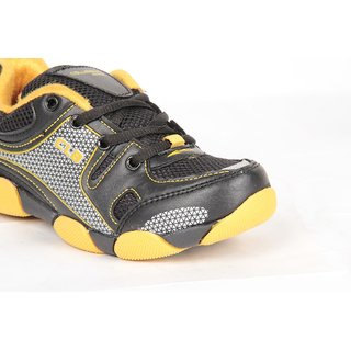 Columbus Blk Berry Black Yellow Casual Kids Shoes