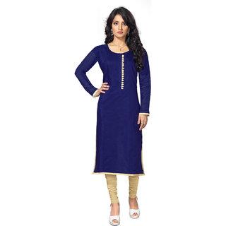 Lovely Look Dark Blue Solid Stitched Kurti LLKKFBRCRHN1001L