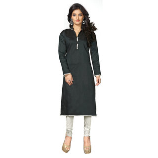 Lovely Look Black Solid Stitched Kurti LLKKFBRCRHN1009L