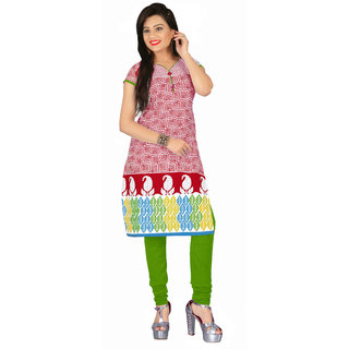 Parisha Maroon Printed Cotton Stitched Kurti