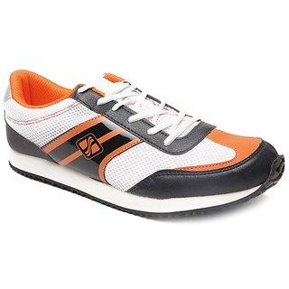Sierra Men's White & Black Running Shoes
