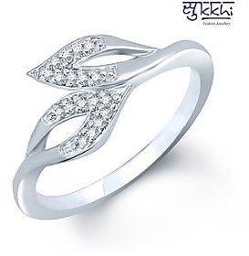 Sukkhi Silver Plated  Silver Rings For-Women