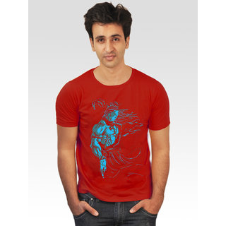 Incynk Men's Lord Shiva Tee (Red)