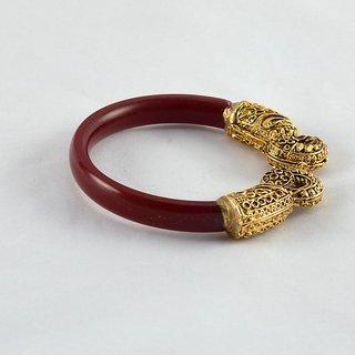 Designer stretchable bangles 21cut kara colour red size-2.2,2.4,2.6,2.8,2.10