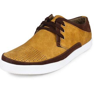 Pede Milan Men's Tan Lace-Up Casual Shoes
