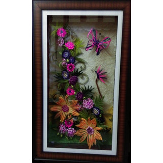 Handmade 3D Quilled Beautiful Floral Frame