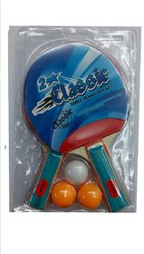 Classic 2 Star Table Tennis Racket Combo (Set of 2 Racket + 3 Balls )