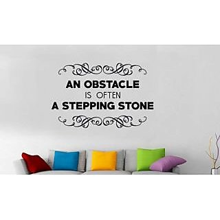 Hoopoe Decor An Obstacle Is Often A Stepping Stone Wall Stickers And Decals