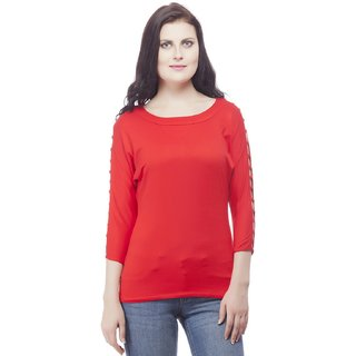 356b671f8f813 Buy Girls Cotton Lycra Top Red Colour Online   ₹600 from ShopClues