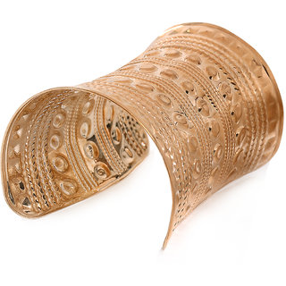 Adornia Gold plated Metallic Hand cuff large